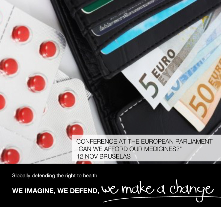 """Conference at the European Parliament """"Can we afford our medicines?"""" 12 Nov Bruselas"""