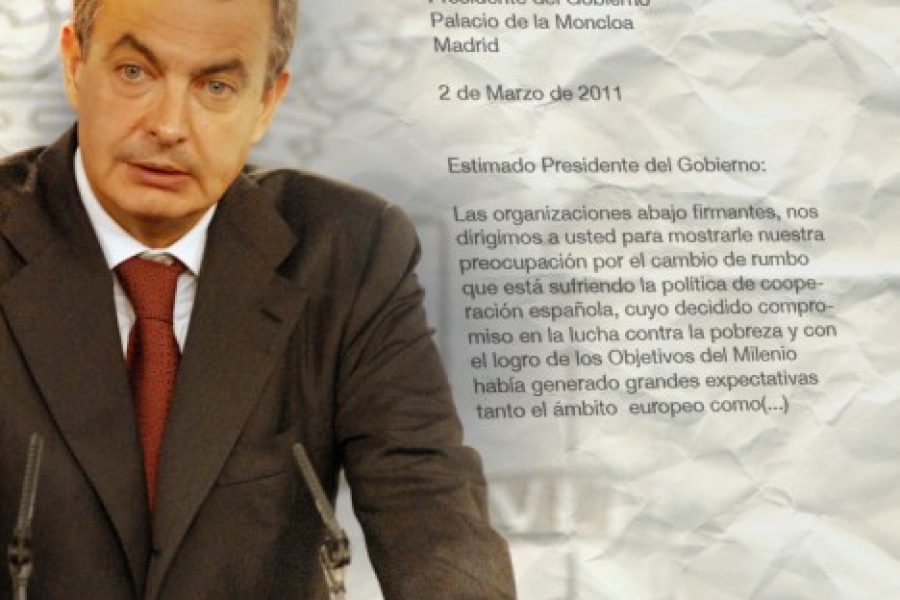 More than 40 organizations from 23 countries urge Zapatero not to cut ODA dedicated to basic social services