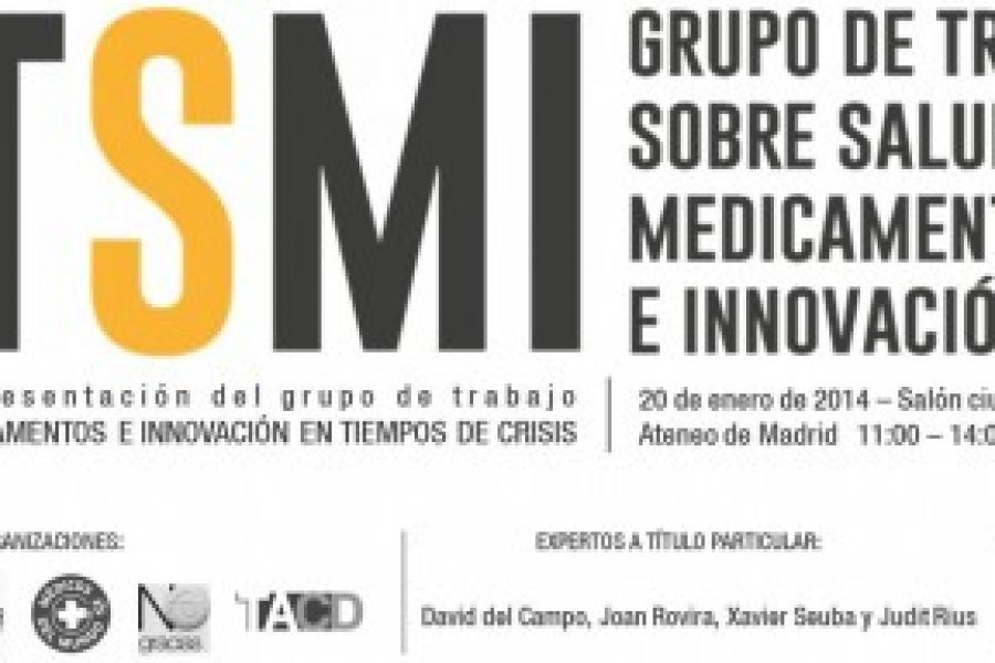 """Evento """"Acceso a medicamentos e innovación en tiempos de crisis"""" – Madrid 20 enero"""