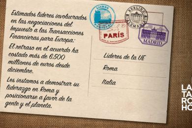 7.000 organizaciones y sindicatos de 30 países exigimos un Impuesto a las Transacciones Financieras durante el aniversario del Tratado de Roma