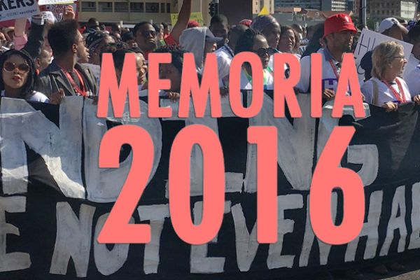 We will be remembered by our actions: 2016 Report