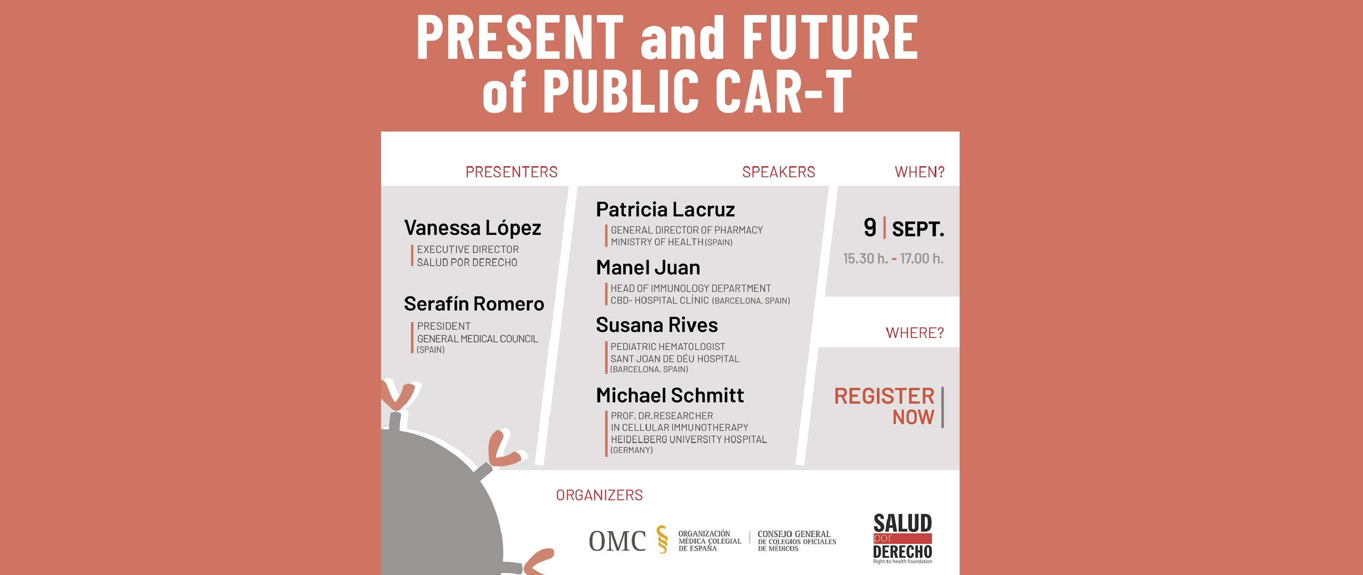 "We invite you to our seminar ""Present and future of pulblic Car-T"""