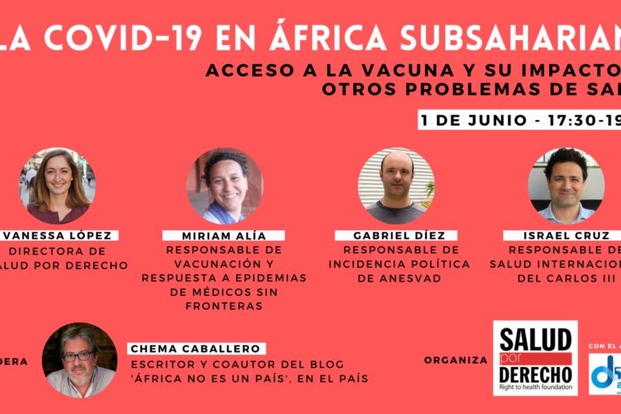 Seminario online: 'La Covid 19 en África Subsahariana: acceso a la vacuna y su impacto en otros problemas de salud'